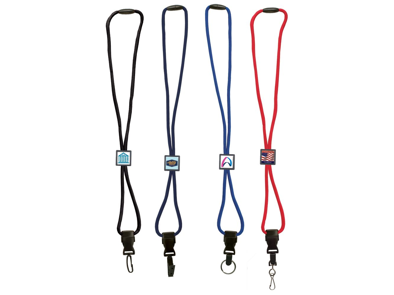 BH055:  Braided Lanyard w/ Square Slider