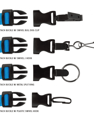 LANYARD END ATTACHMENTS AVAILABLE FOR AN ADDITIONAL CHARGE