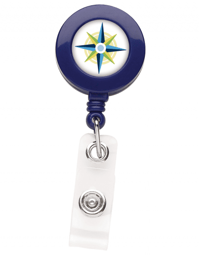 BH1 Round Badge Reel - Blue