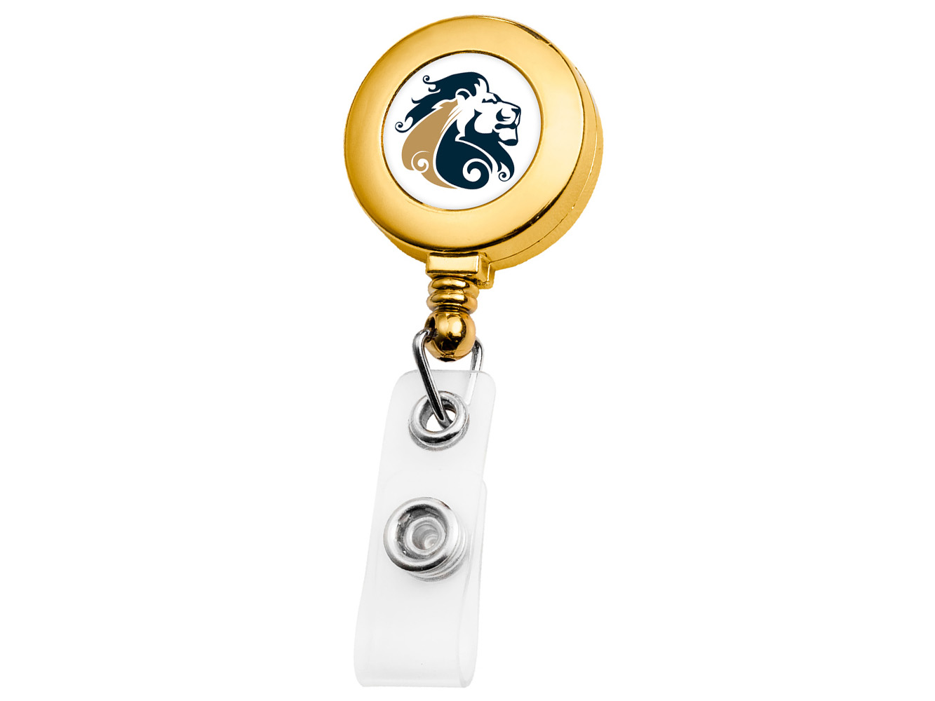 BH3030GD:  Gold Round Badge Reel