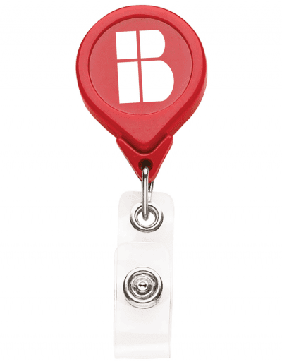 BH3 Round Badge Reel - Red