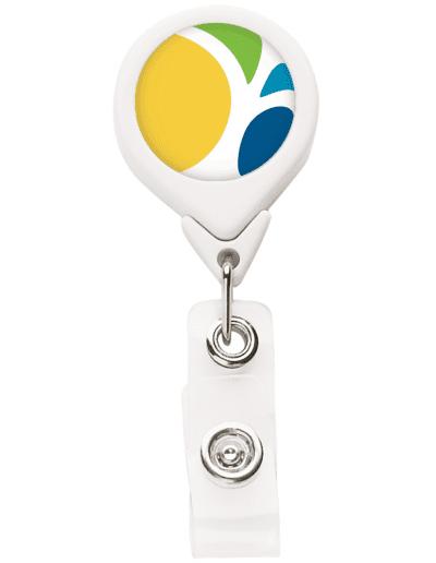BH3 Round Badge Reel - White