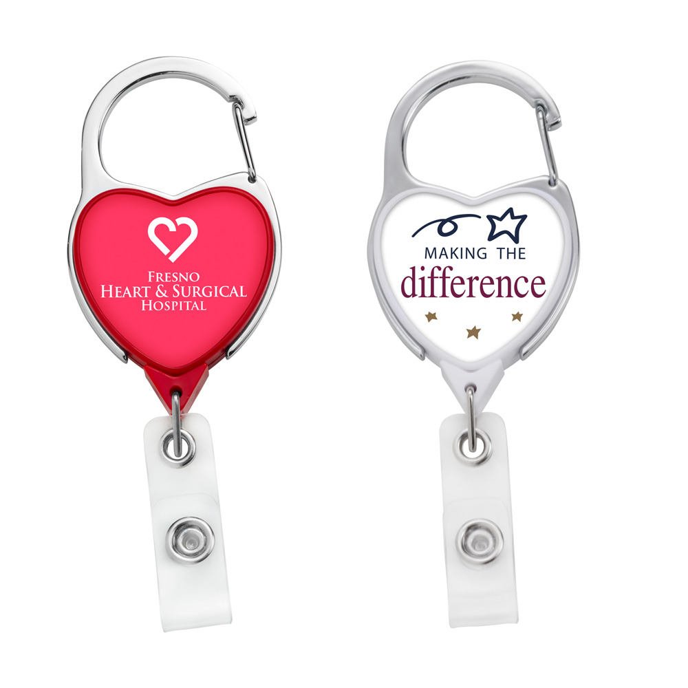 BH43: JUMBO Heart Carabiner Badge Reel