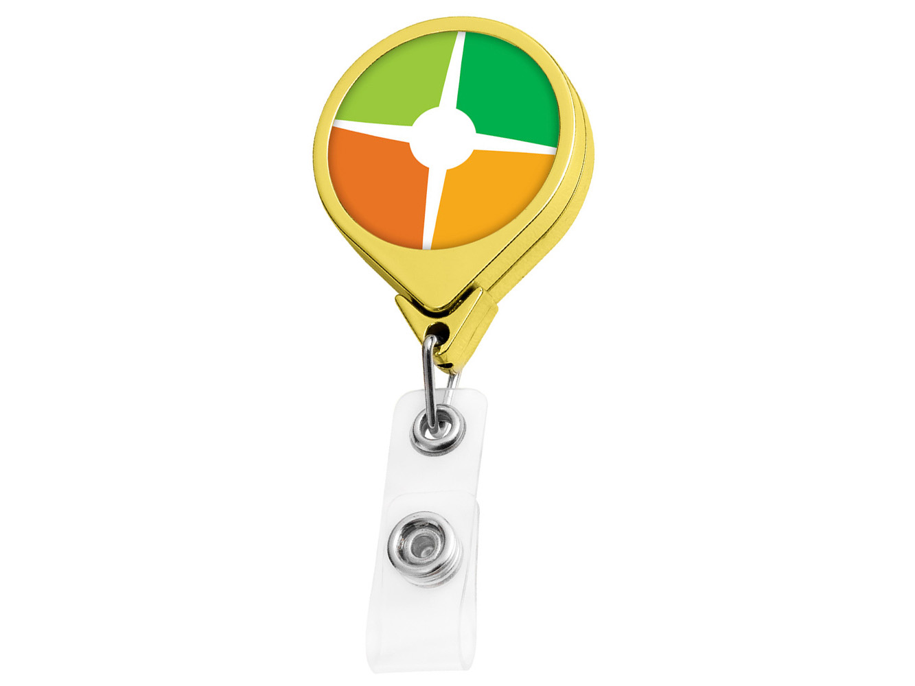 BH44GD:  Gold JUMBO Round Badge Reel