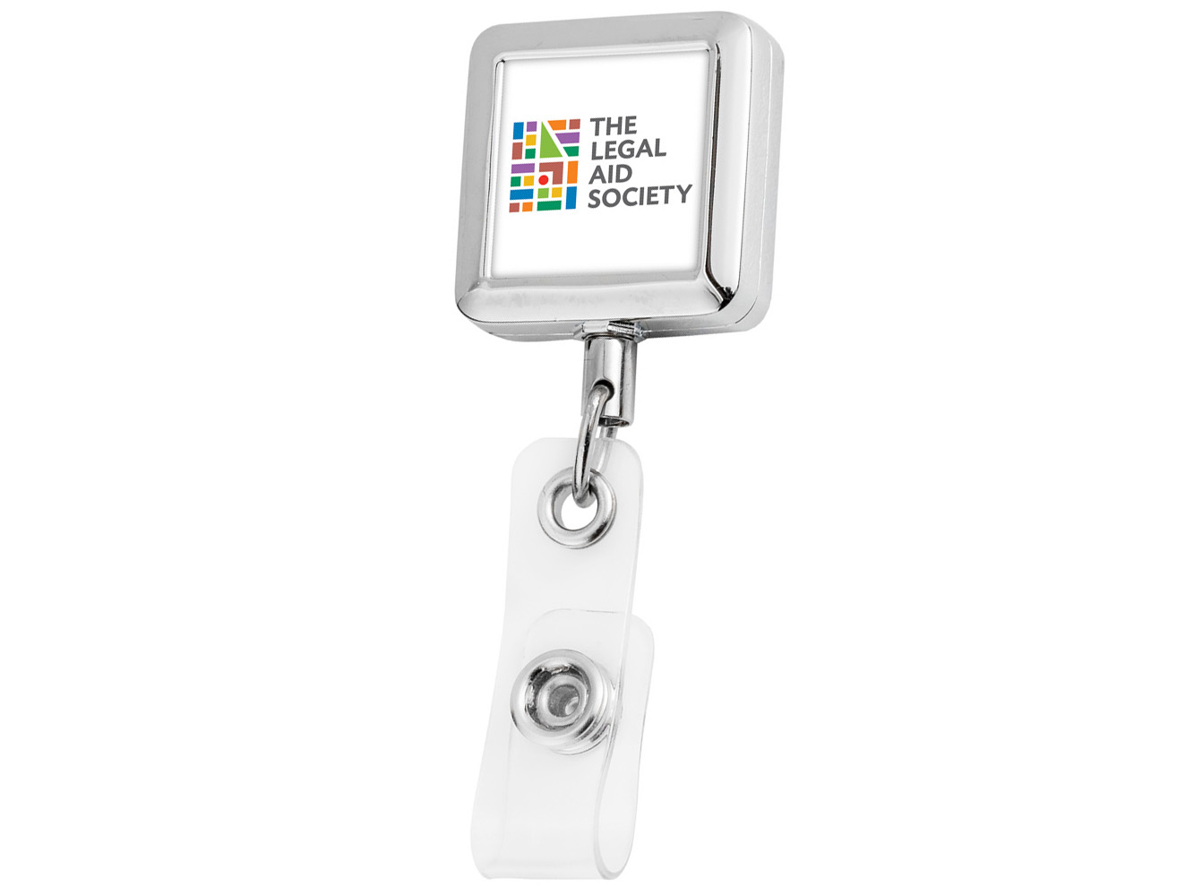 BH63:  Square Metal Badge Reel