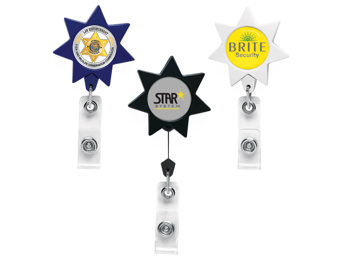 BH911:  Seven Point Star Badge Reel