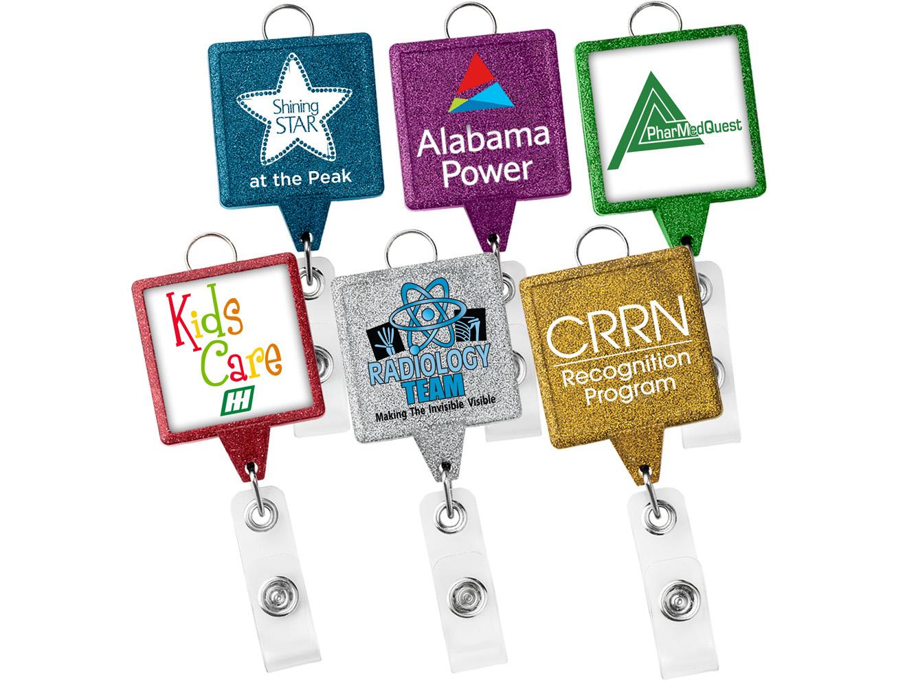 BHL55: JUMBO Square Glitter Badge Reel