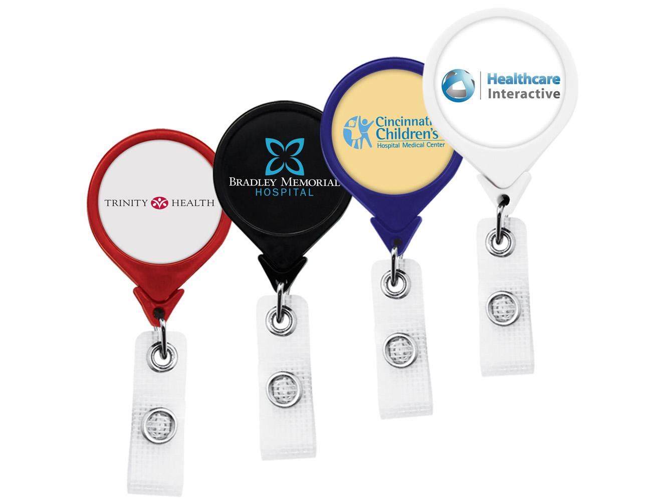 BHM44:  Anti-Microbial JUMBO Round Badge Reel