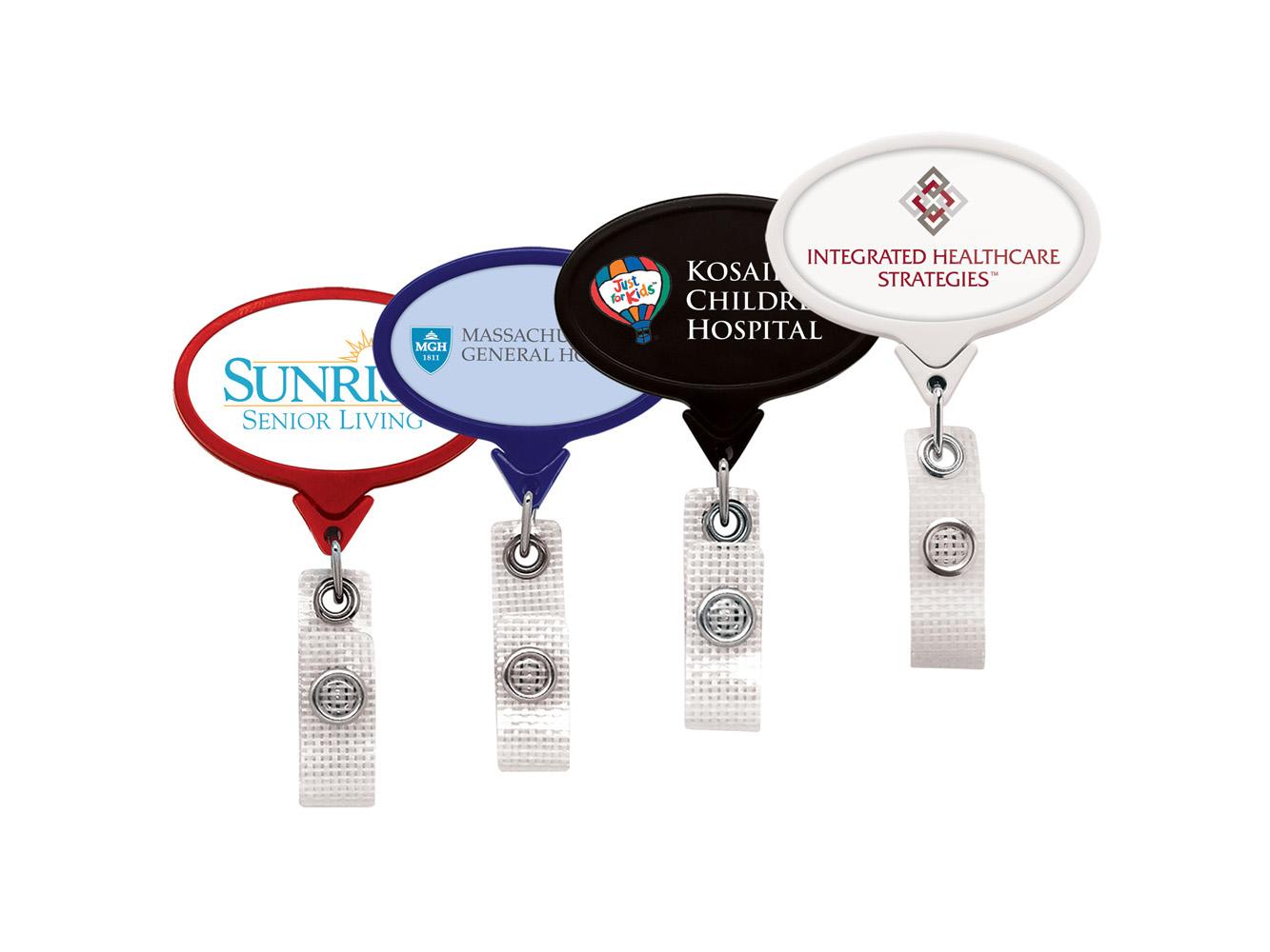 BHM66:  Anti-Microbial JUMBO Oval Badge Reel