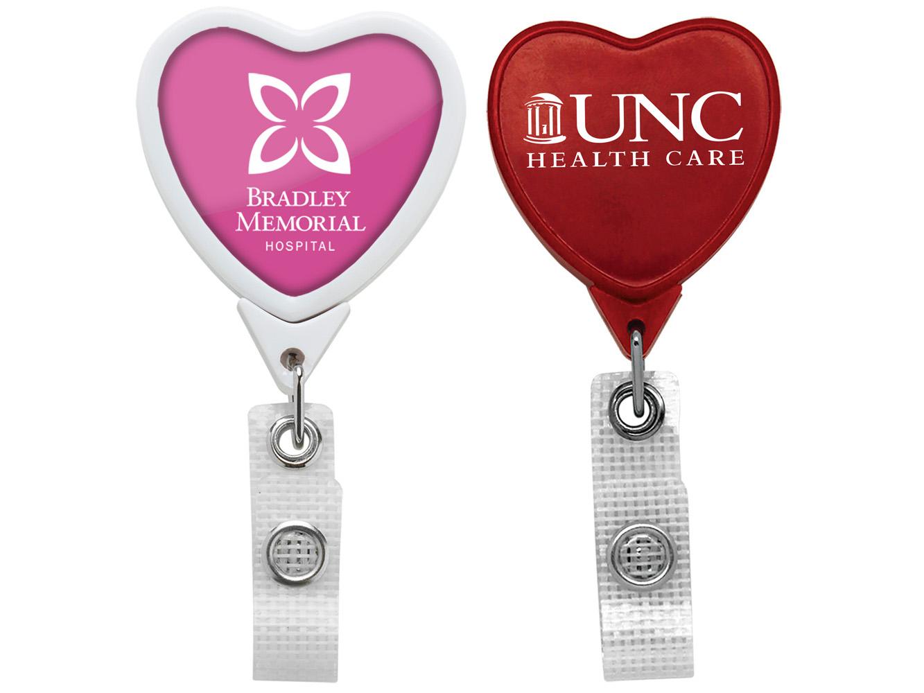 BHM85: Anti-Microbial JUMBO Heart Badge Reel