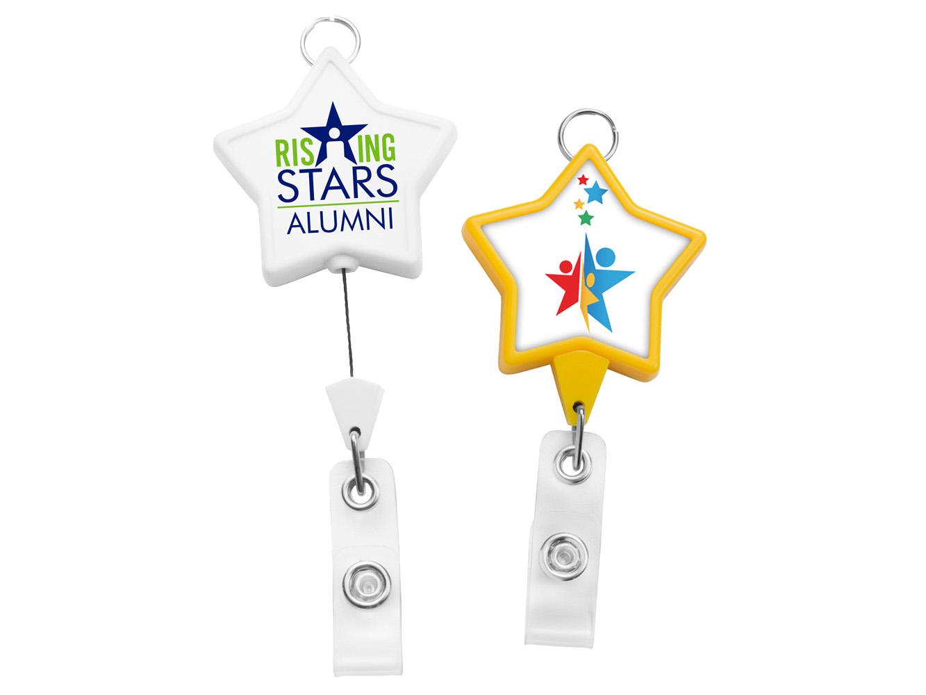 BHR86:  JUMBO Star Badge Reel w/ Lanyard Attachment
