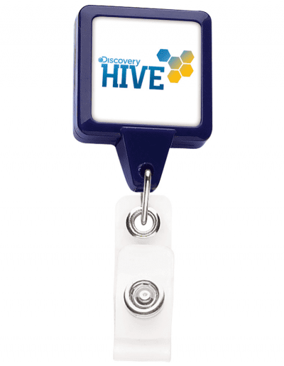 BHS3 Square Badge Reel - Blue