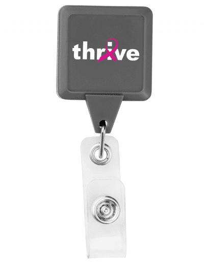 BHS3 Square Badge Reel - Grey