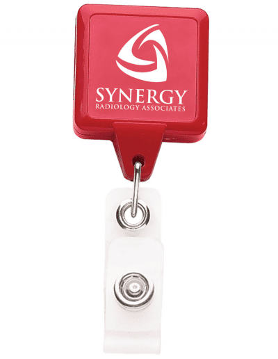 BHS3 Square Badge Reel - Red