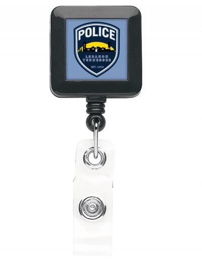 BHS40 Square badge Reel - Black