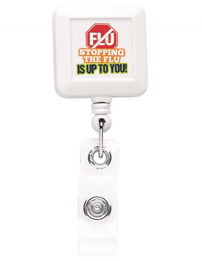 BHS40 Square badge Reel - White