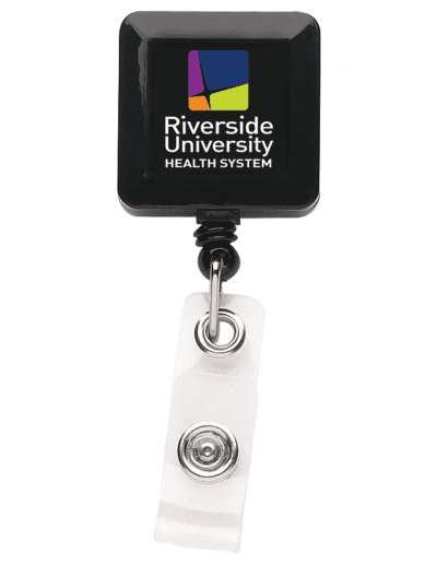 BHS7 Square Badge Reel - Black