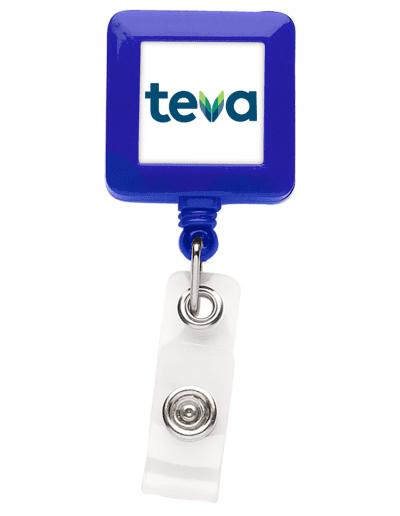 BHS7 Square Badge Reel - Blue