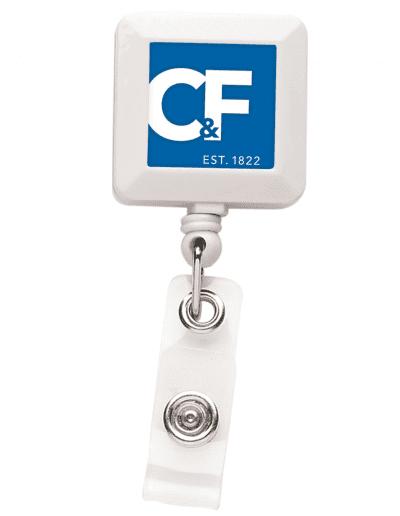 BHS7 Square Badge Reel - White