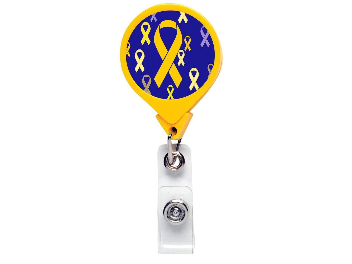 RF002:  Yellow Ribbon JUMBO Theme Badge Reel