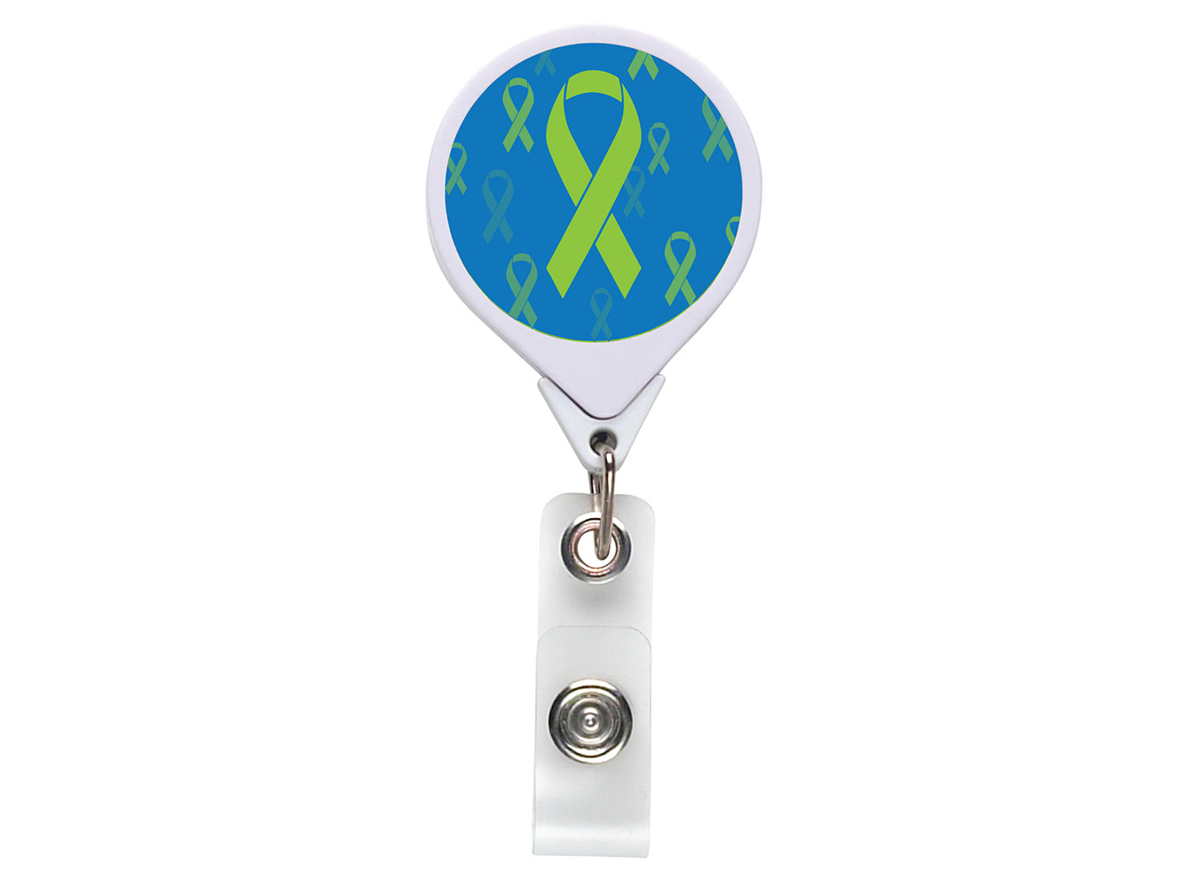 RF003:  Green Ribbon JUMBO Theme Badge Reel