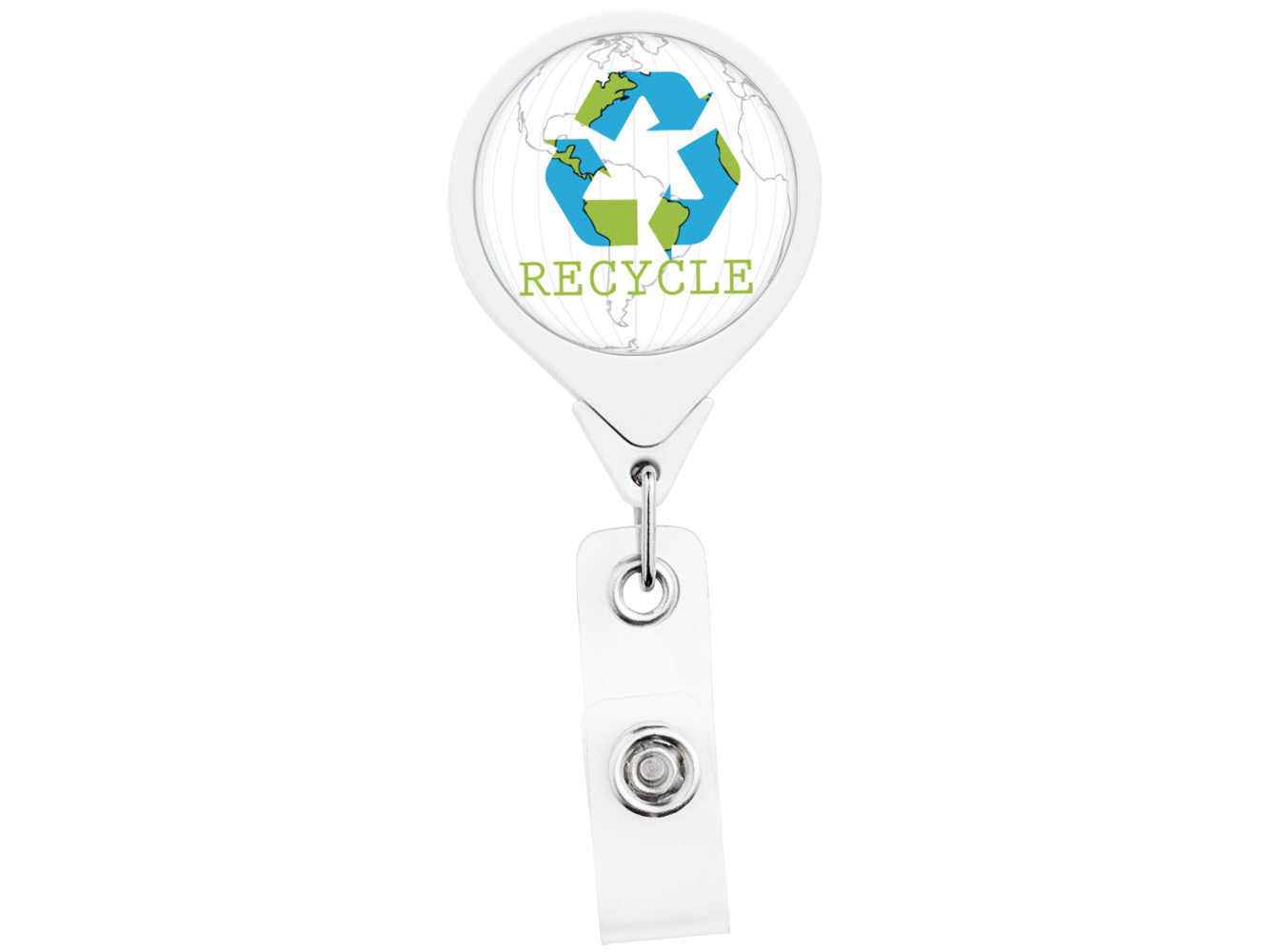 RF012: Recycle JUMBO Theme Retractable Badge Reel