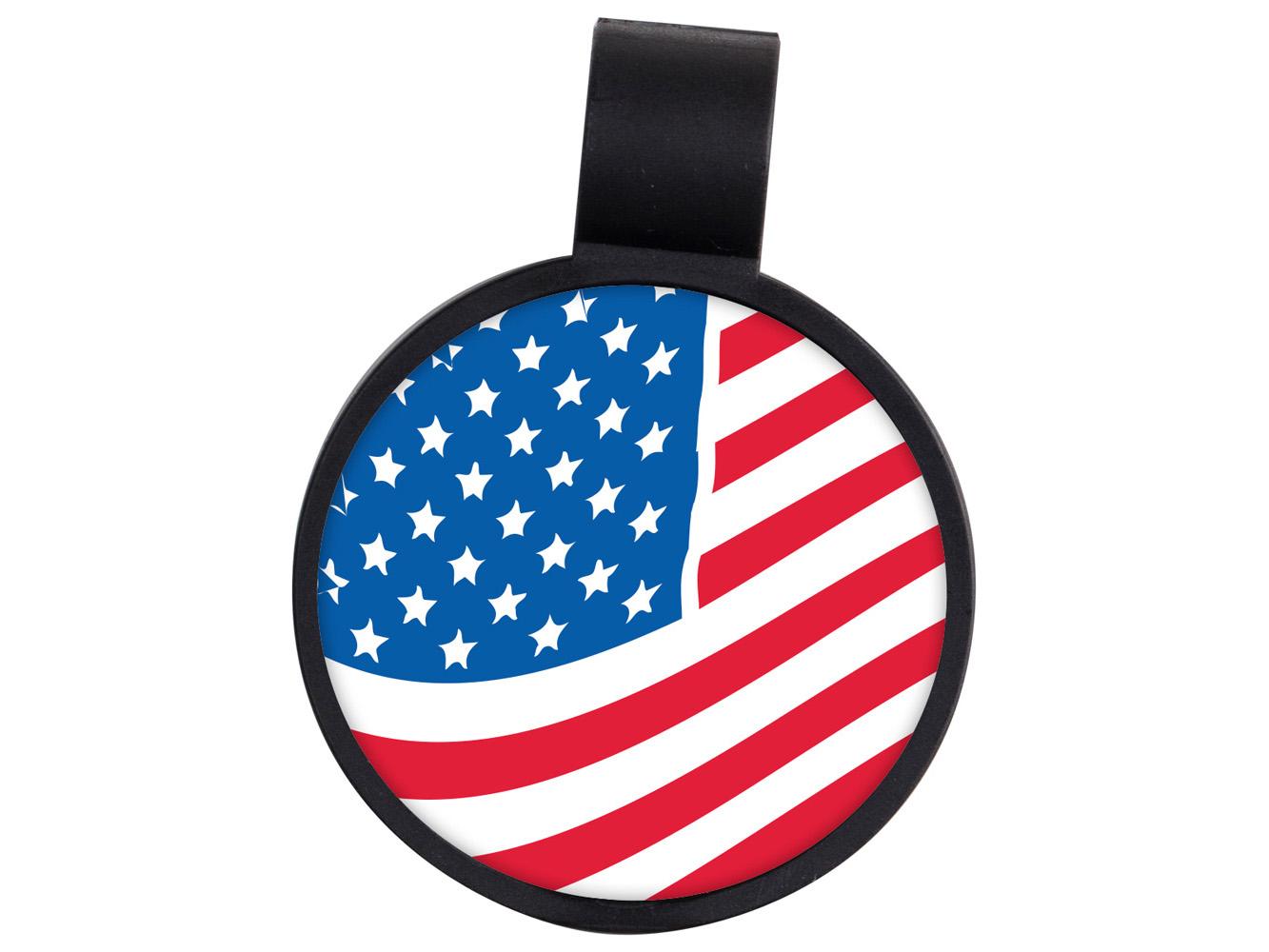 STF11: US Flag Anti-Microbial Stethoscope ID Tag