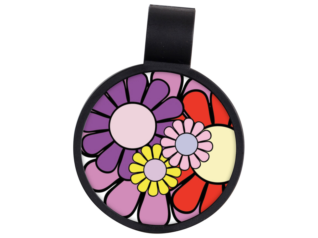 STF13: Daisies Anti-Microbial Stethoscope ID Tag