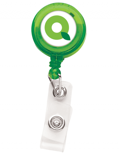TBH1 Translucent Round Badge Reel -  Green