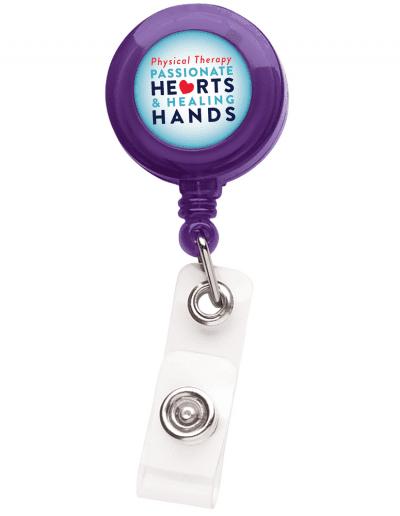 TBH1 Translucent Round Badge Reel -  Purple