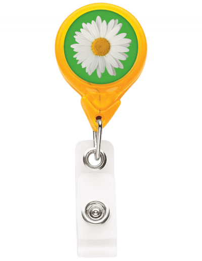TBH3 Translucent Round Badge Reel - Yellow