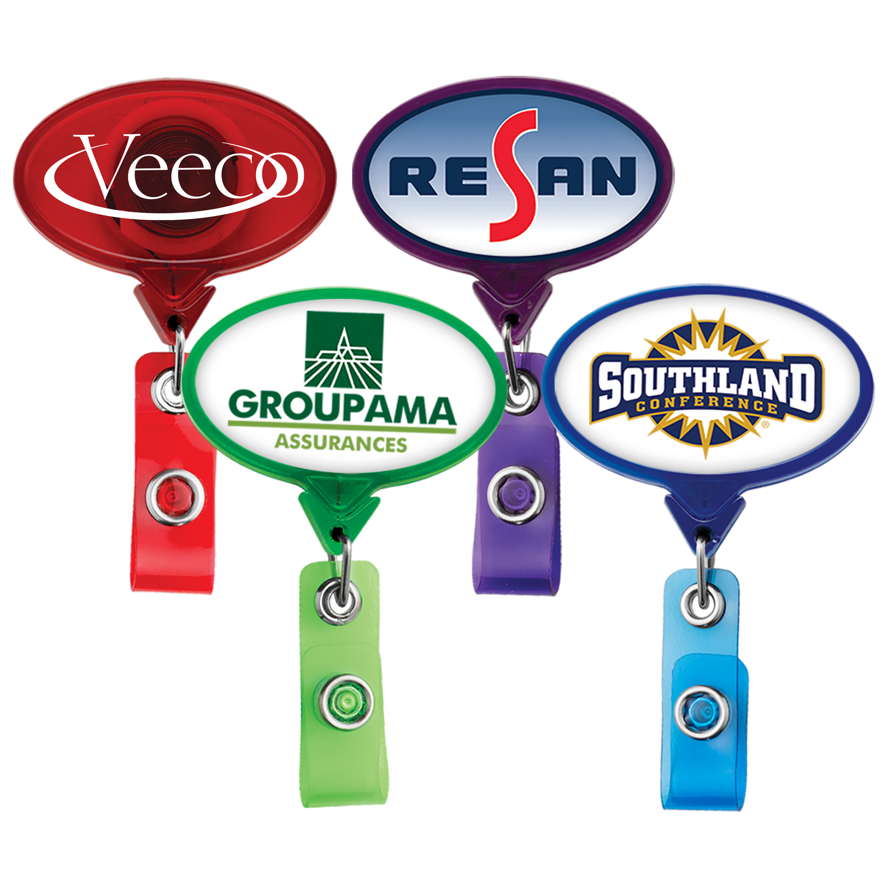 TBH66: JUMBO Oval Badge Reel (translucent colors)