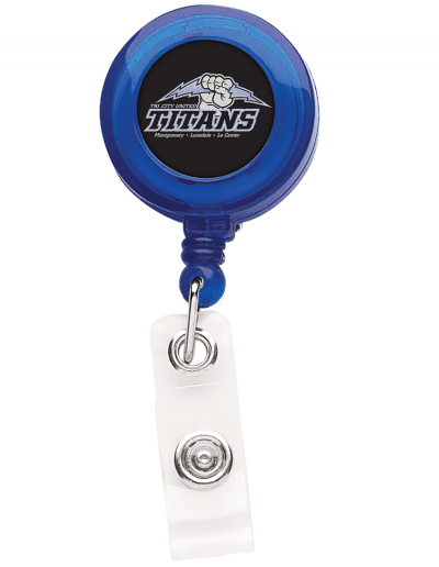 TBH7 Translucent Round Badge Reel -  Blue