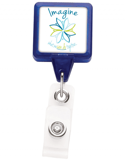 TBHS3 Translucent Square badge Reels -  Blue