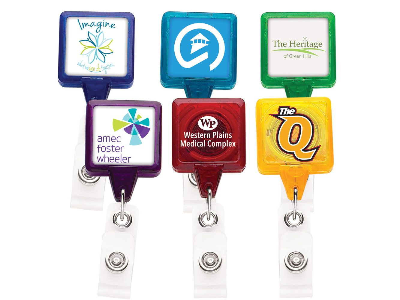 TBHS3 Translucent Square badge Reels - Best