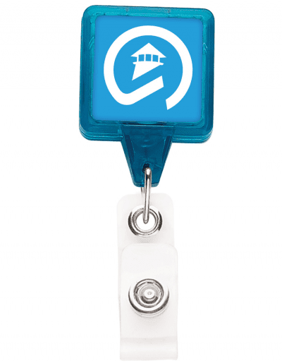 TBHS3 Translucent Square badge Reels -  Ice Blue