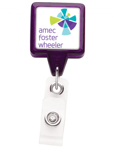 TBHS3 Translucent Square badge Reels -  Purple