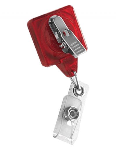 TBHS3 Translucent Square badge Reels -  Back