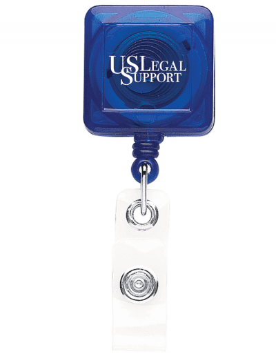 TBHS40 Translucent Square badge Reels - Blue