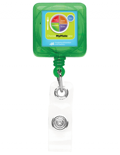 TBHS40 Translucent Square badge Reels -  Green