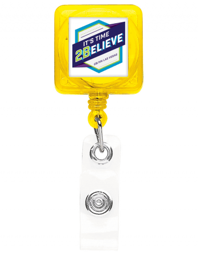 TBHS40 Translucent Square badge Reels - Yellow