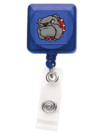 TBHS7 Translucent Square Badge Reel -  Blue