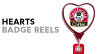 Heart Shaped Badge Reels