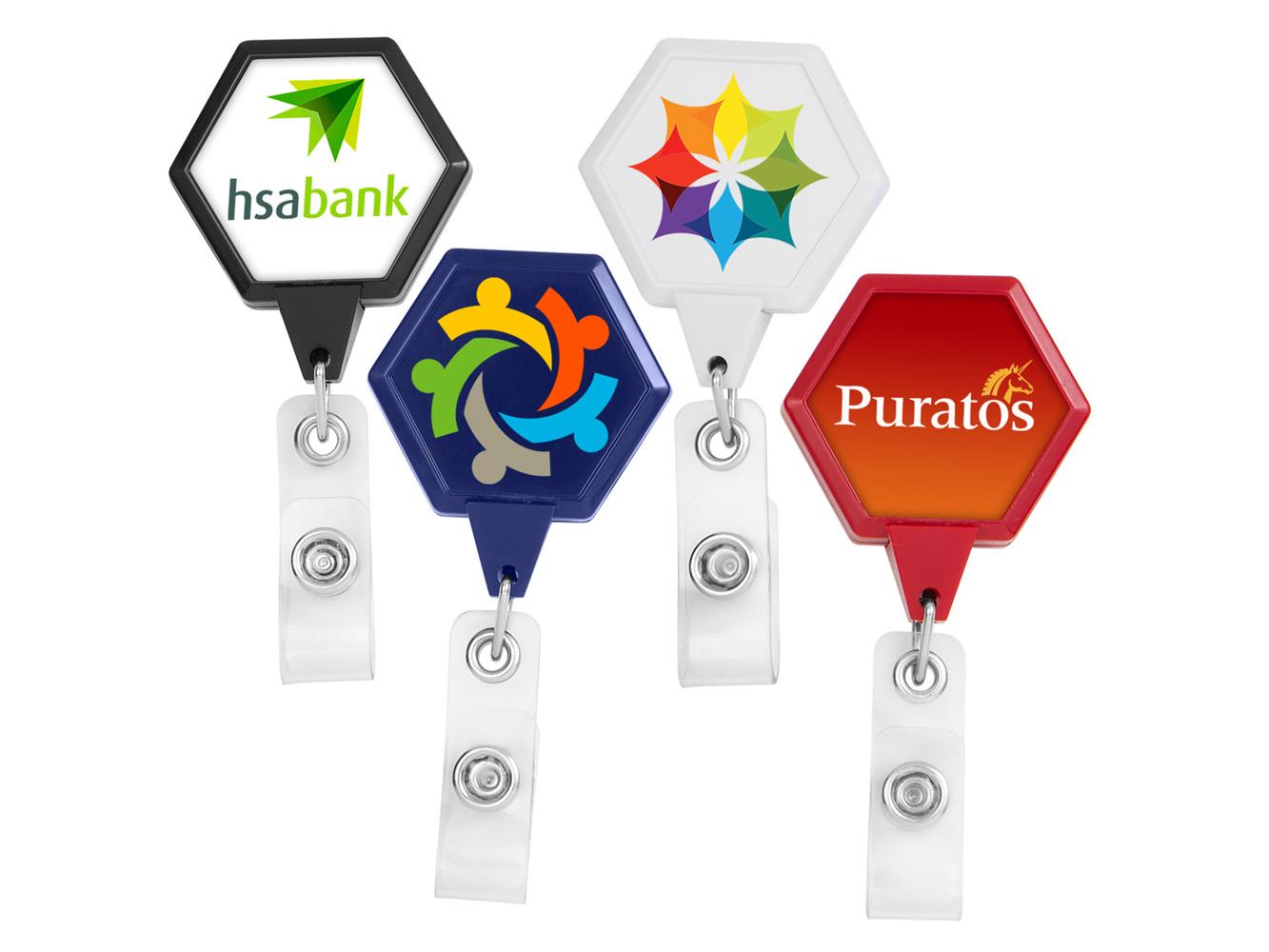 BH39:  JUMBO Hexagon Badge Reel