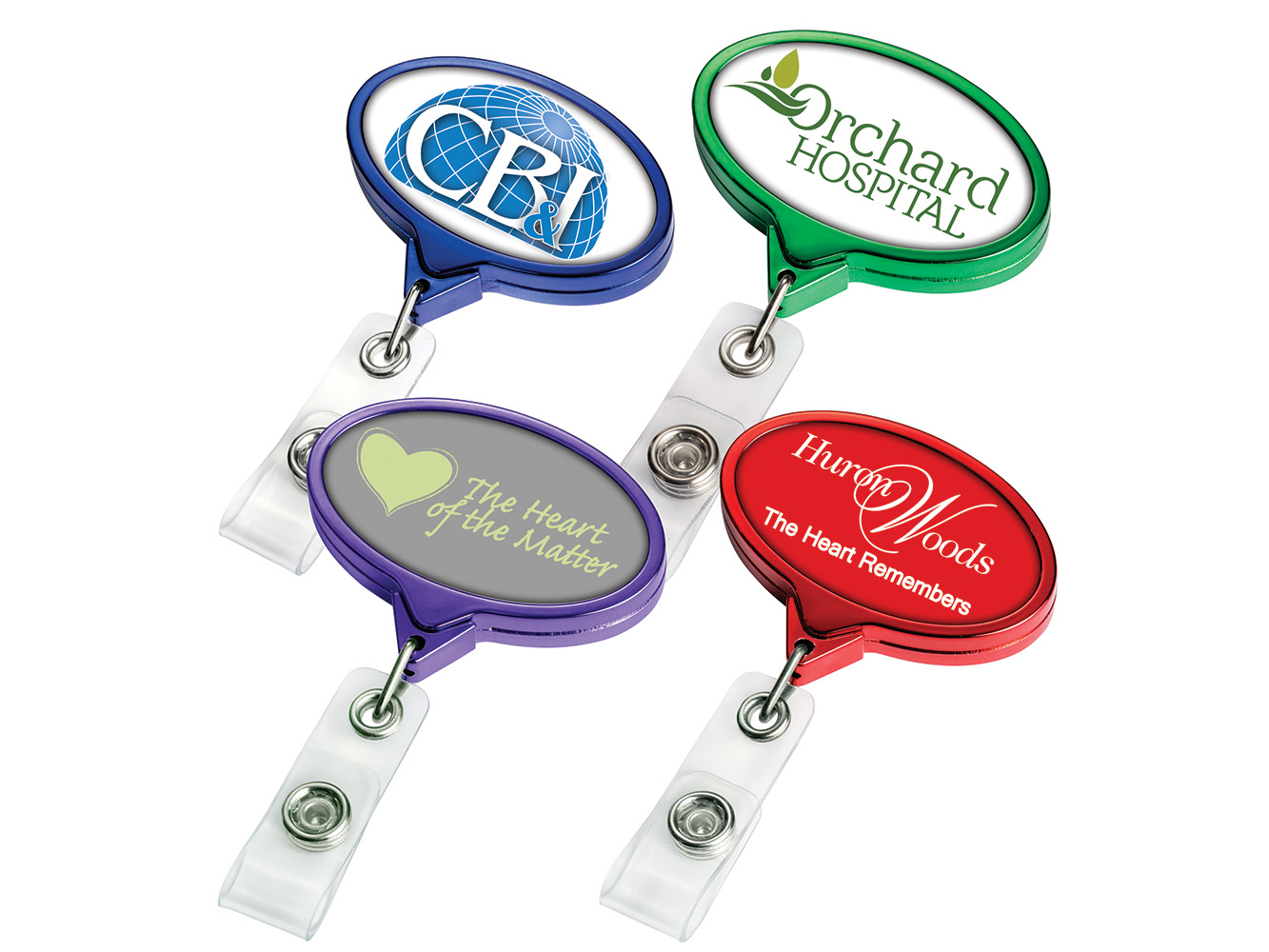 BH66CHCL: Color Chrome JUMBO Oval Badge Reel
