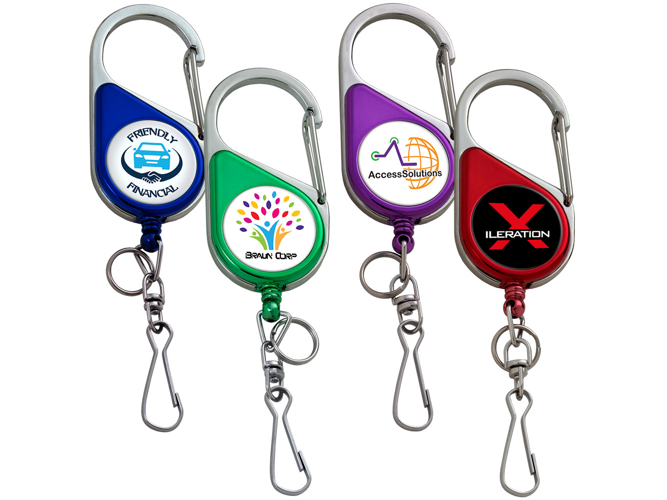 BH69CHCL: Color Chrome Heavy Duty Carabiner Badge Reel