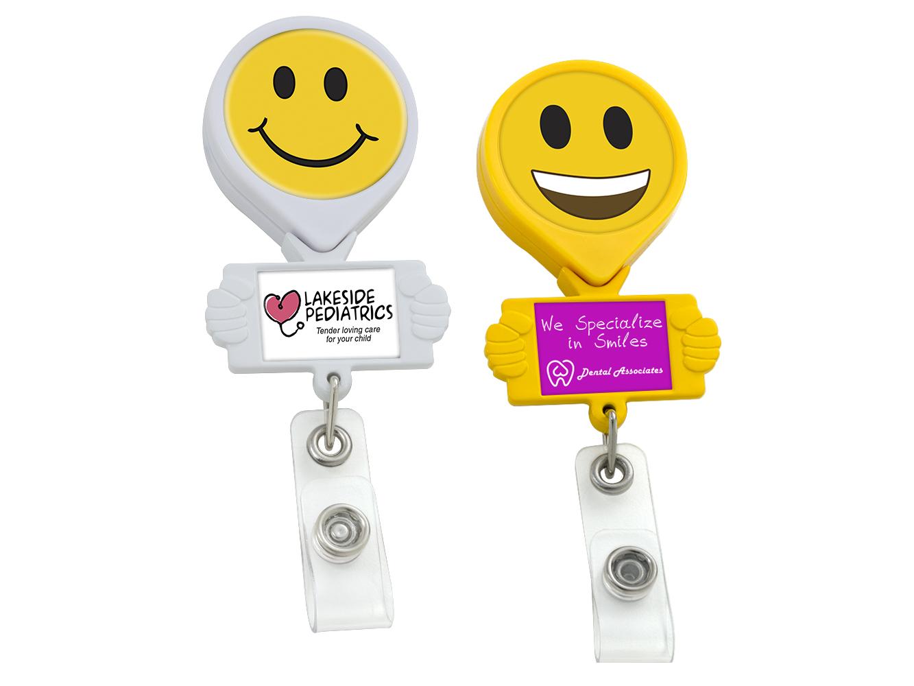 BH77:  Smiley Hands Badge Reel