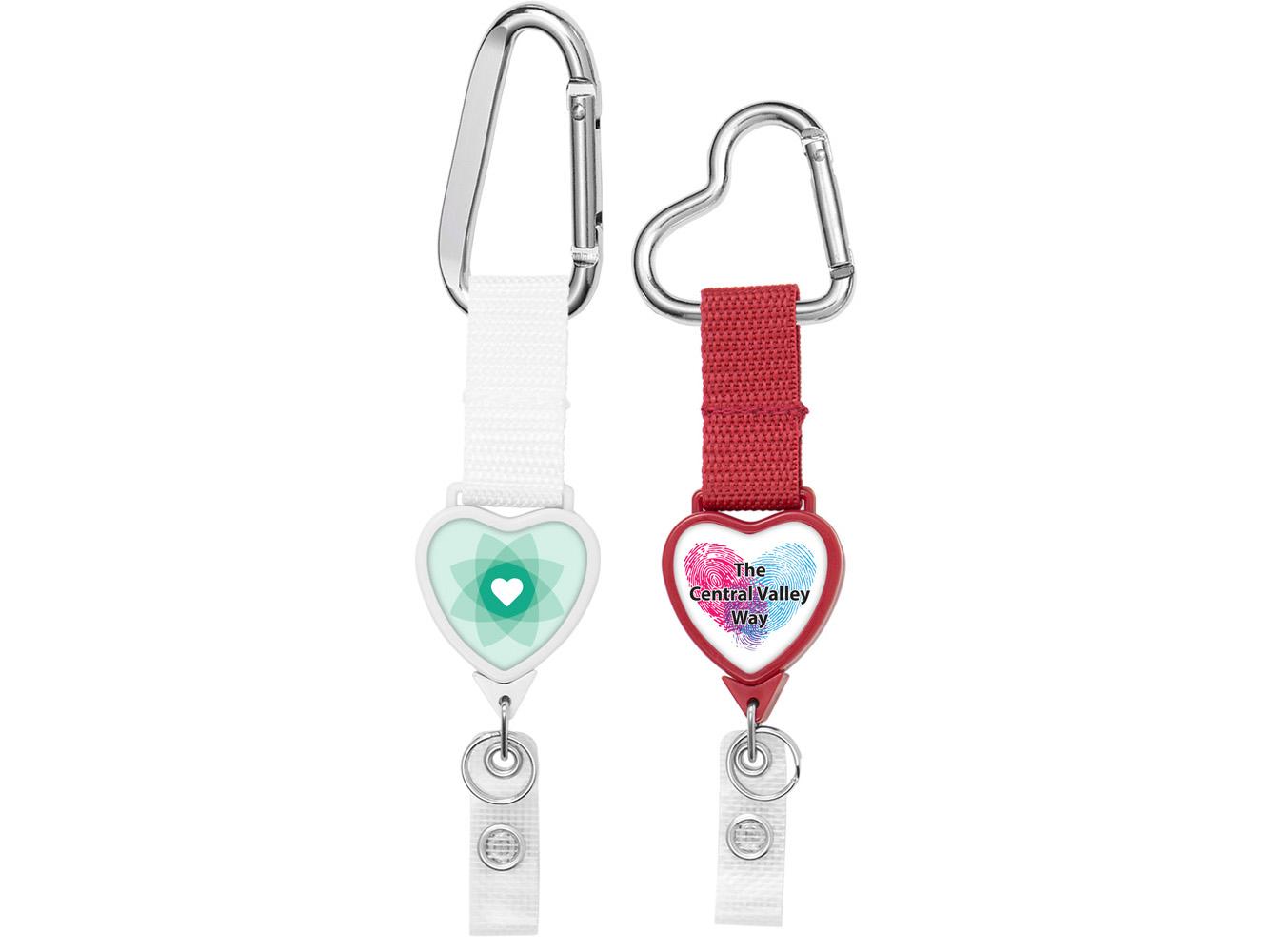 BH999: Heart Carabiner Strap 2 Reel