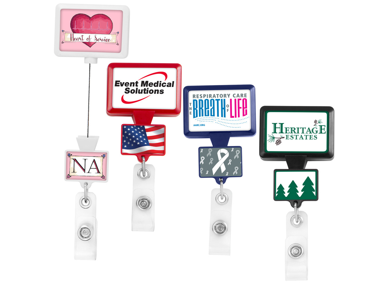 BHD18:  Double Up Rectangle Badge Reel