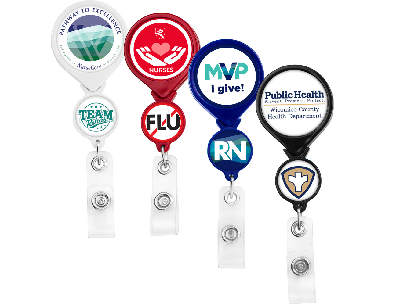 BHD44:  Double Up Round Badge Reel